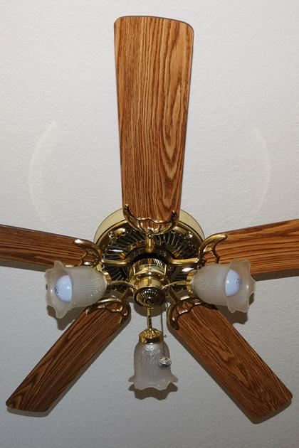 Wood ceiling fan blades