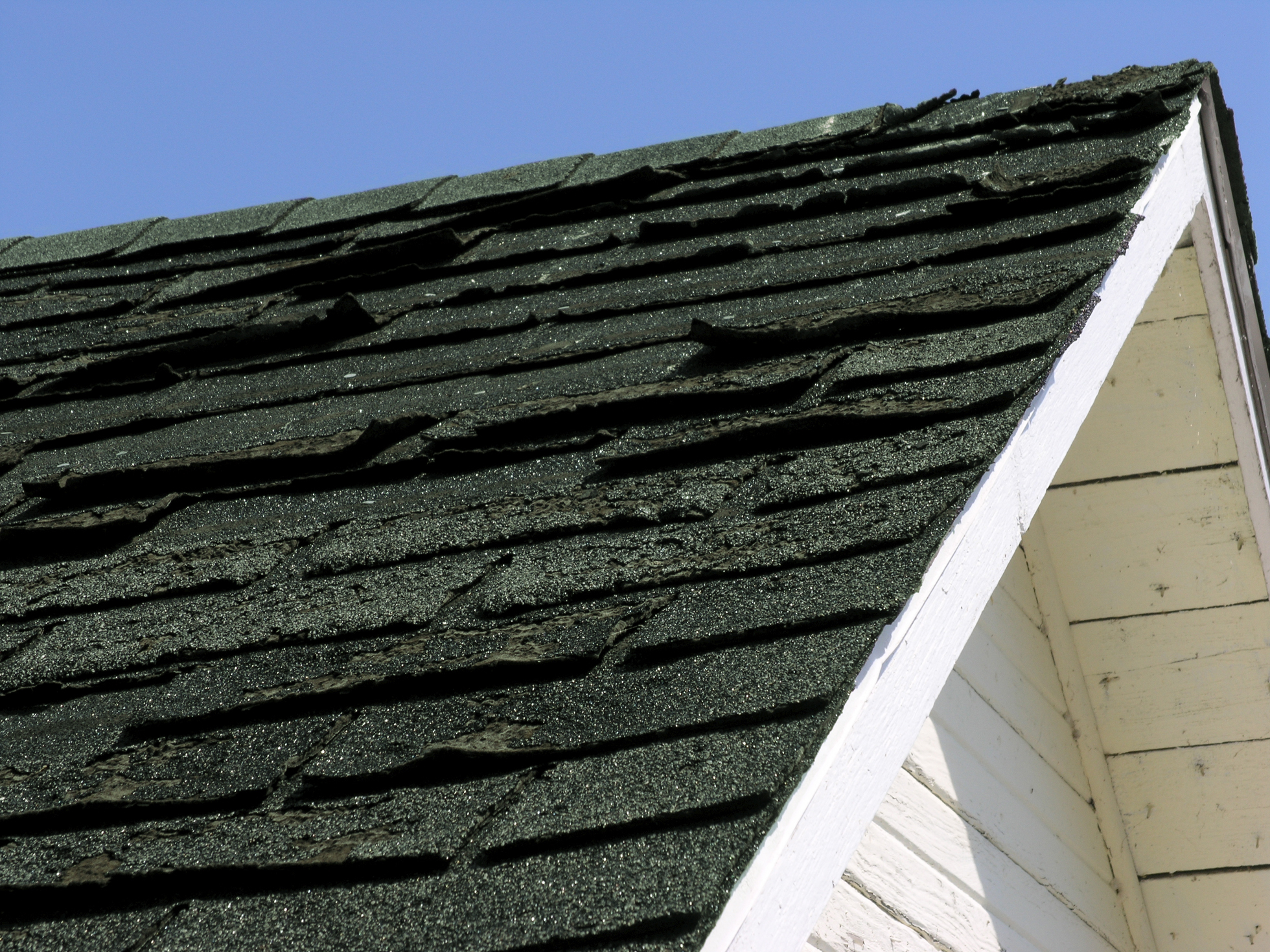 Roof with older shingles