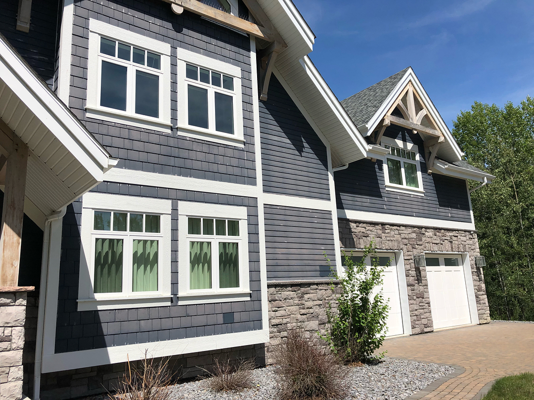 Home with blue siding and white trim | New Siding for ROI