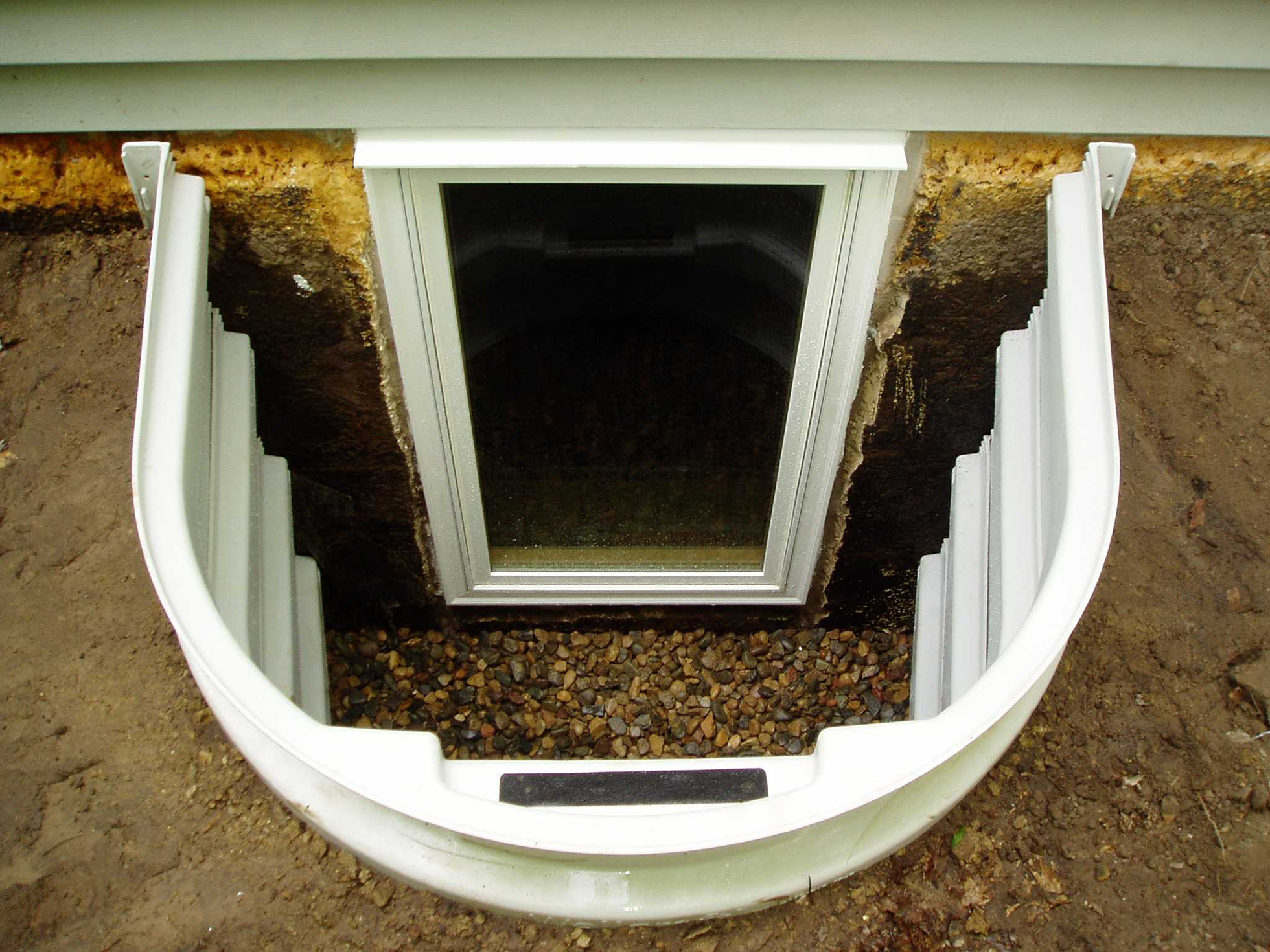 Newly installed egress window in a home