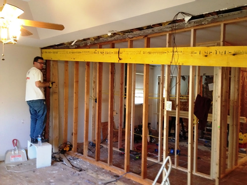 Removing a wall in a house