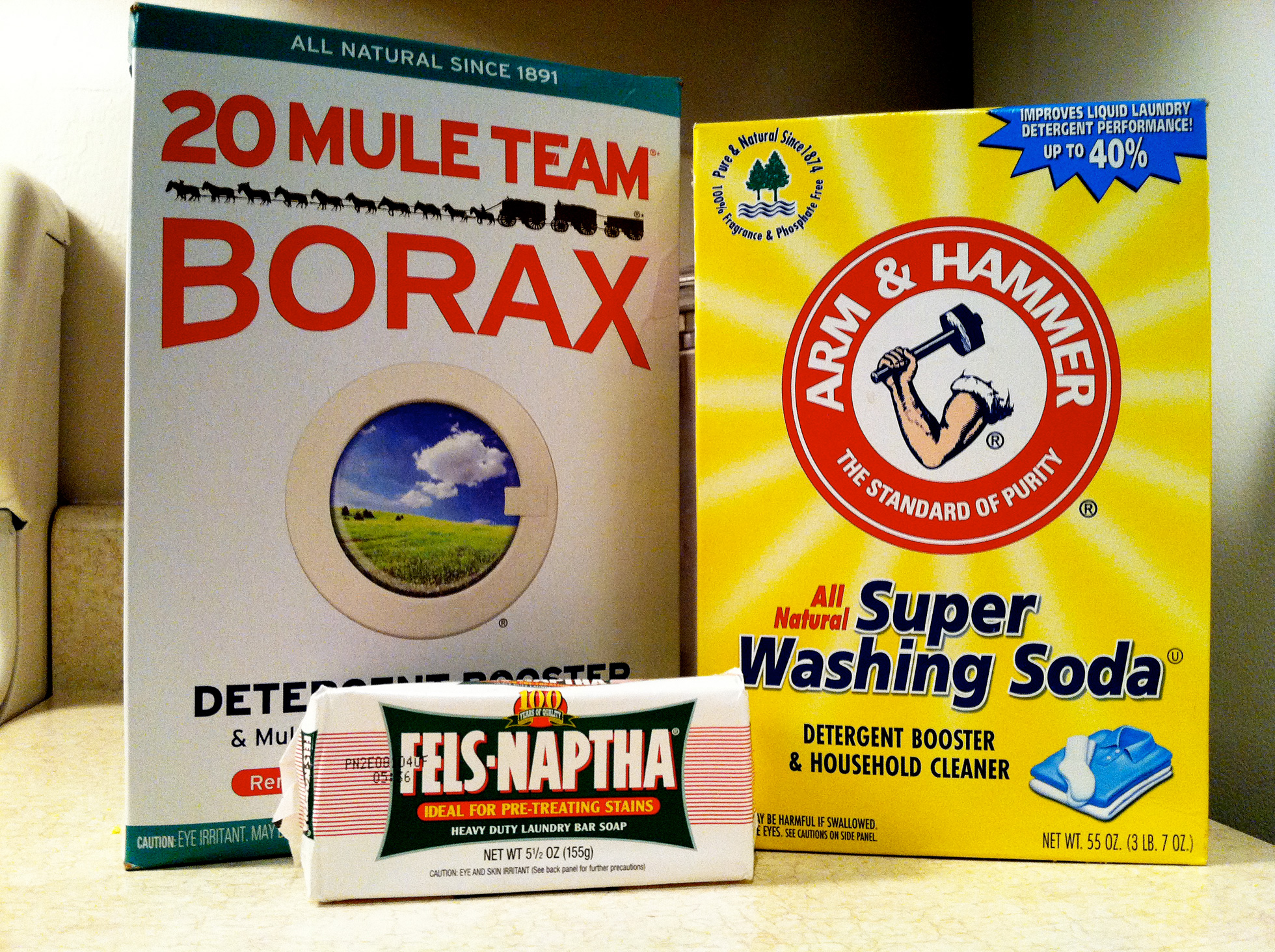 Ingredients for homemade laundry detergent #1
