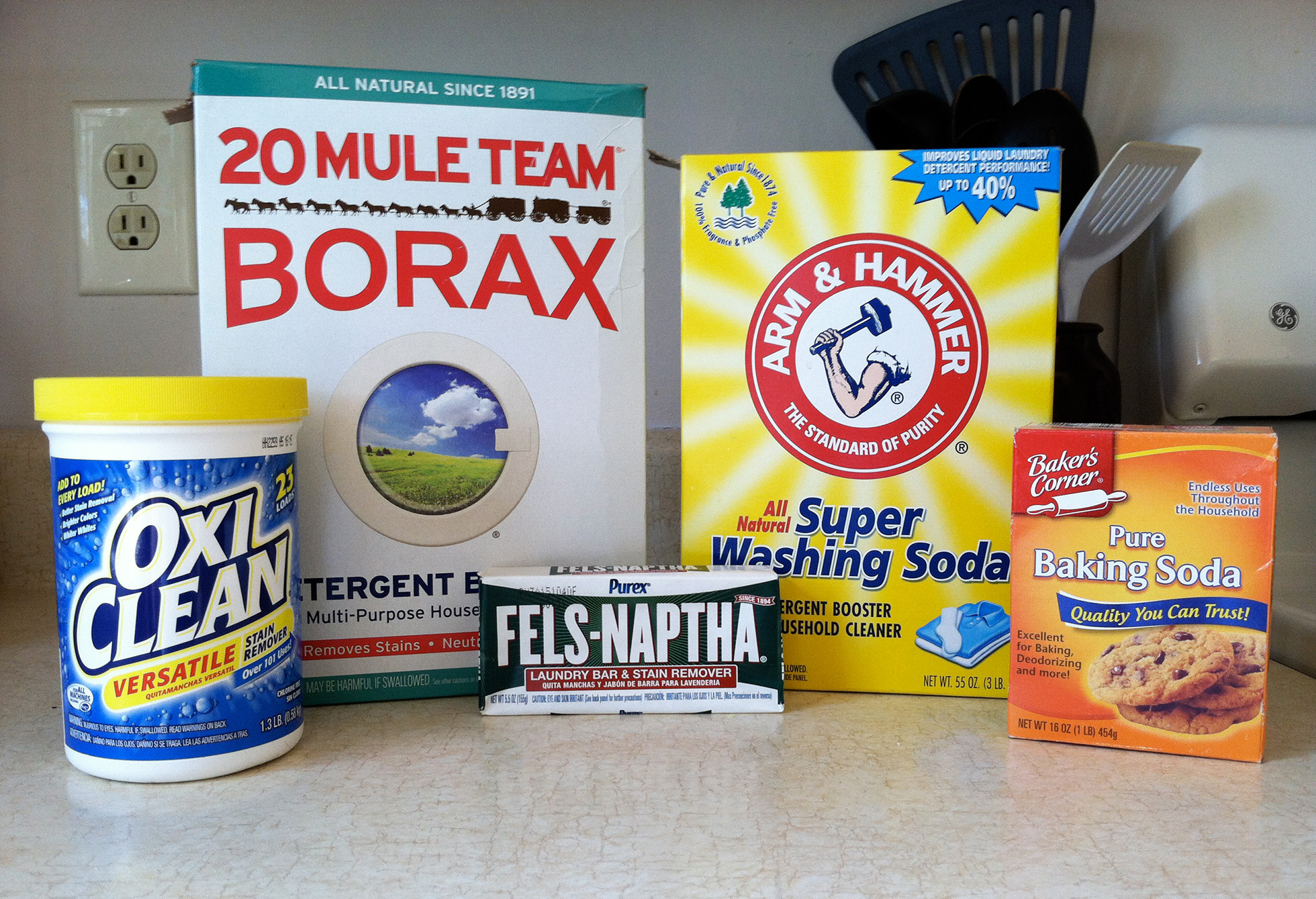 Ingredients for homemade detergent #3