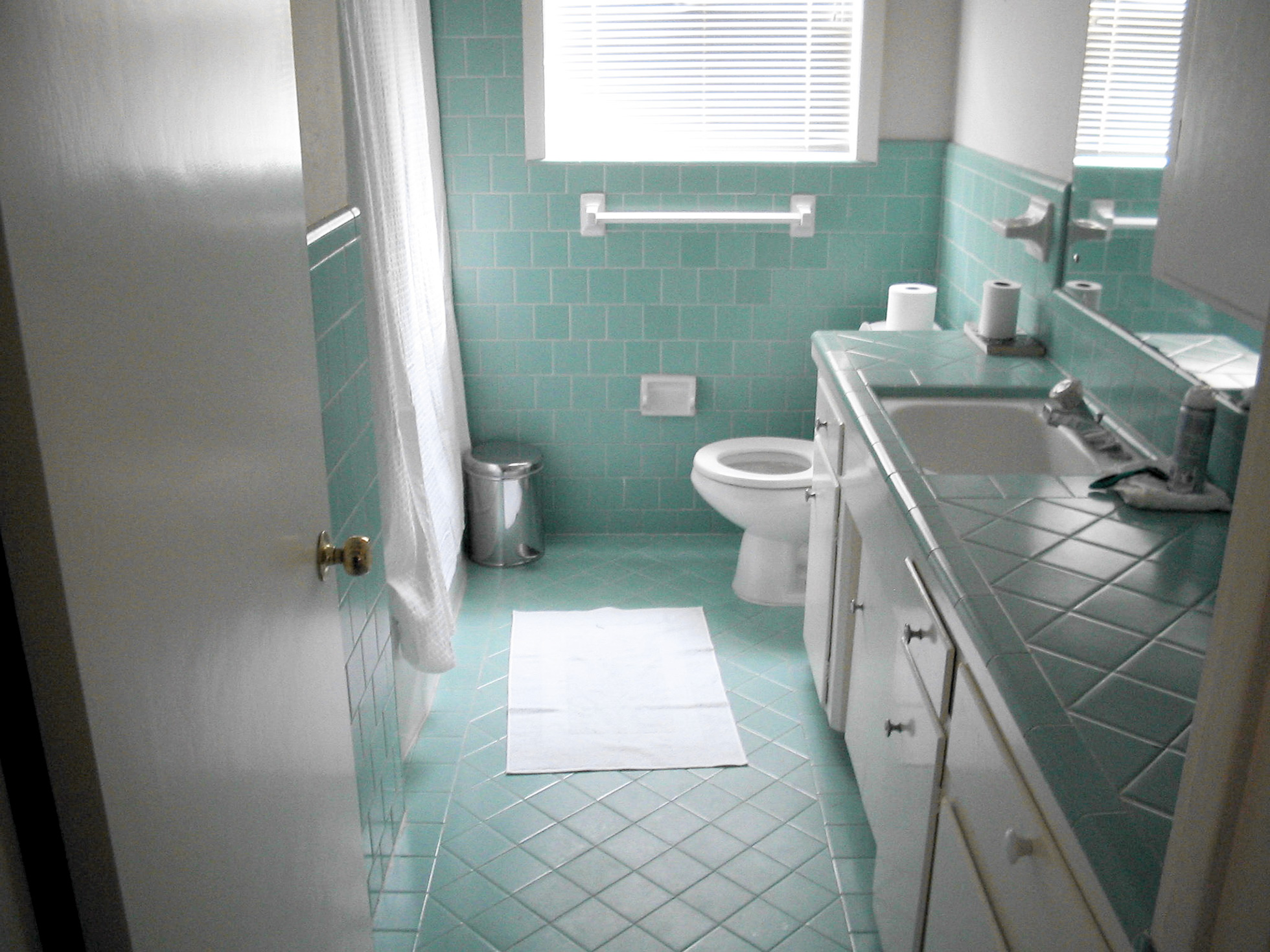 A contractor using your home's bathroom