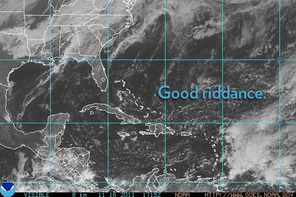 2011 Hurricane Season Now Just A Bad Memory