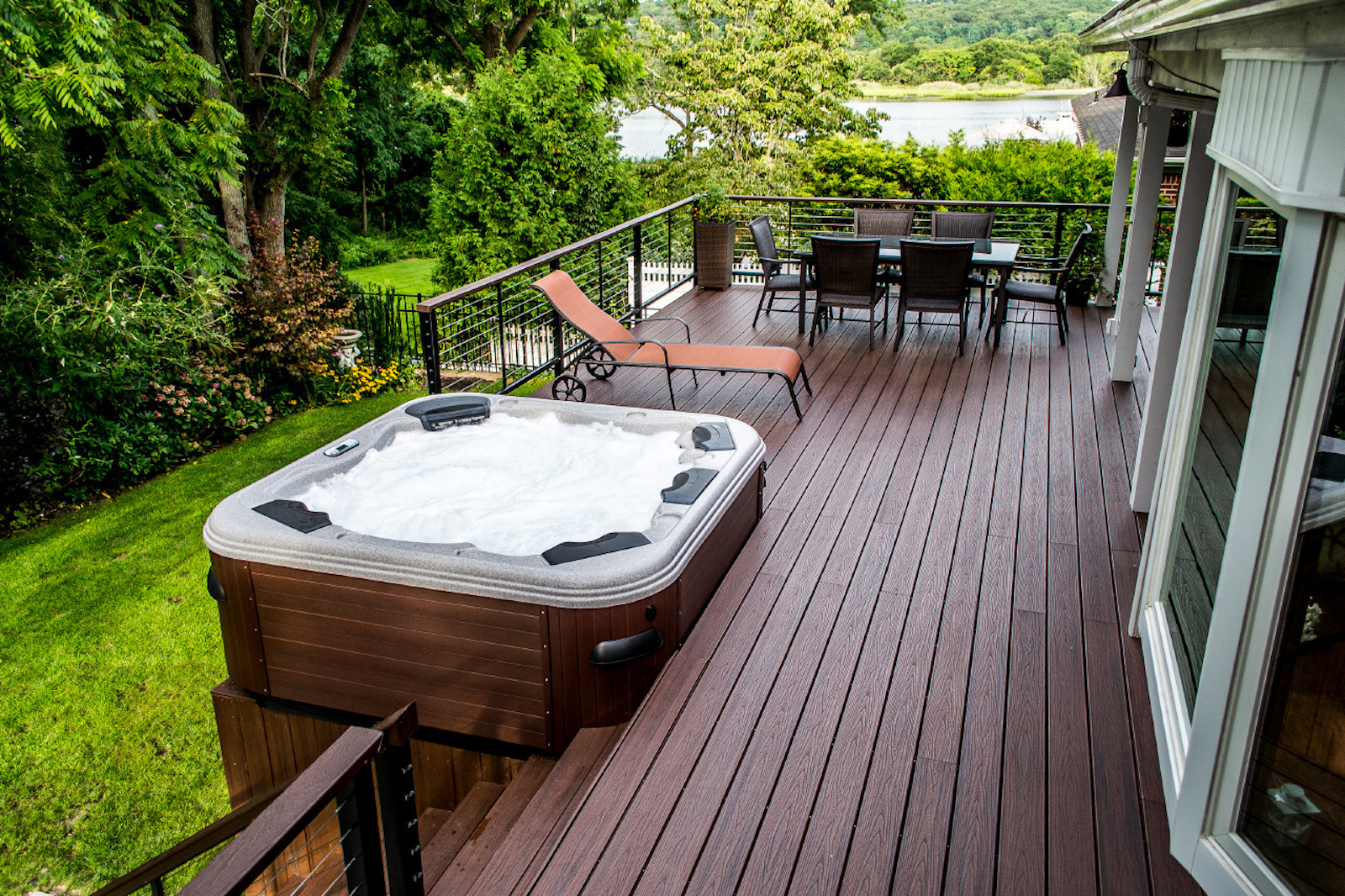 Spa And Deck Installation Decks In Cost To Install Wiring For Hot Tub