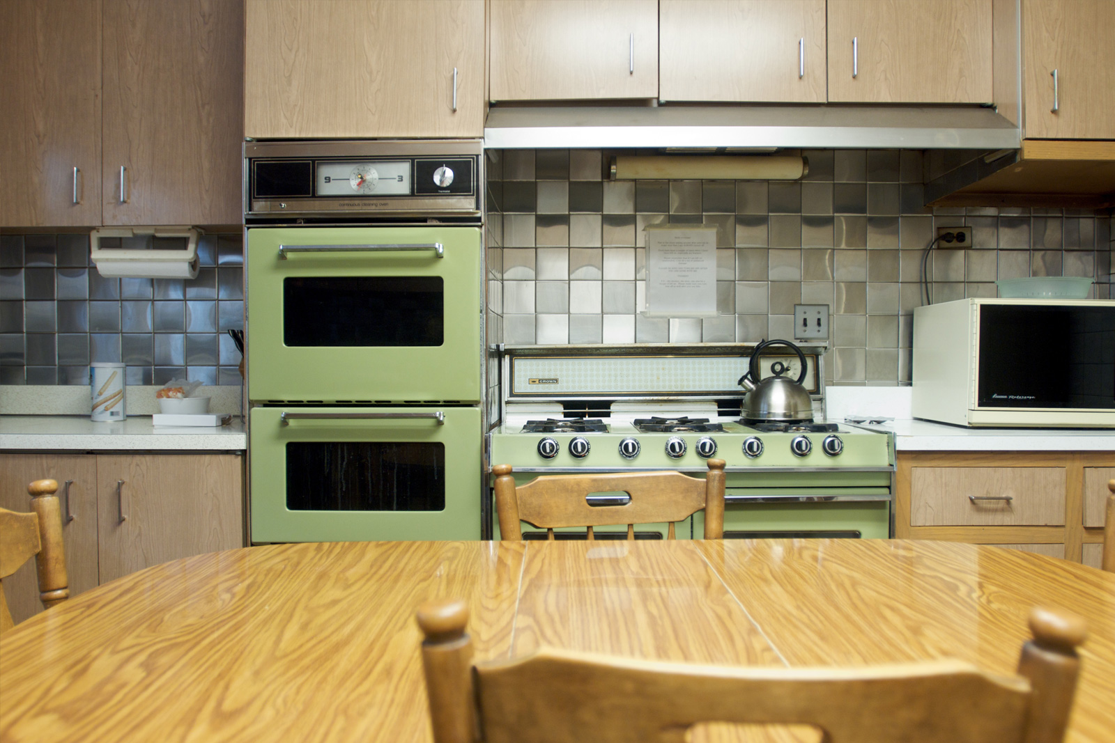 Best floors for a kitchen - Avocado Green Kitchen
