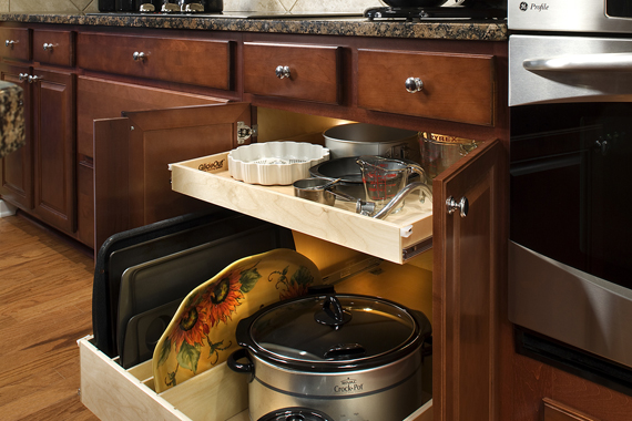 pull out kitchen shelves | kitchen shelves that pull out | houselogic