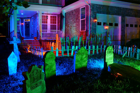 halloween lighting ideas - How To Decorate For Halloween Outside