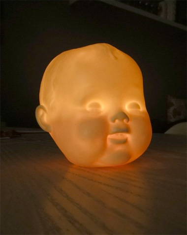 Light Up Doll Head | Outdoor Halloween Decorations