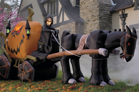 Inflatable Pumpkin Carriage | Outdoor Halloween Decorations