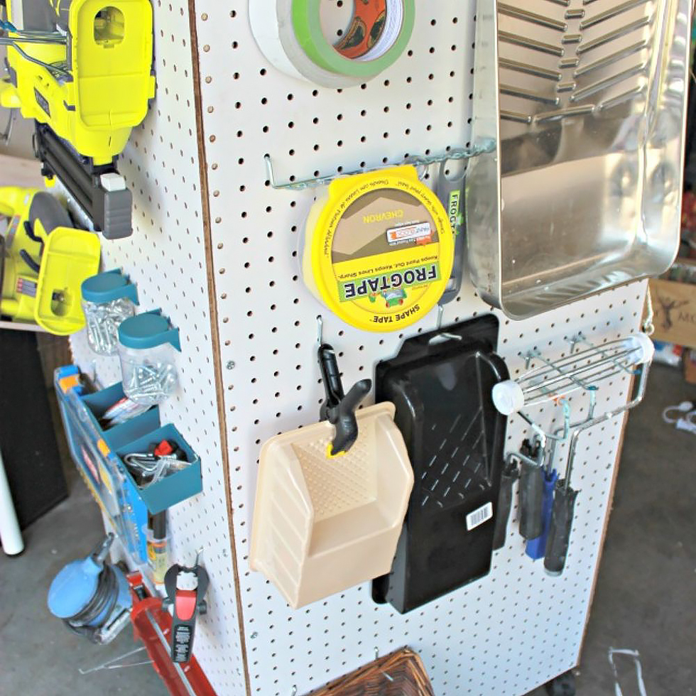 Portable pegboard tool storage caddy