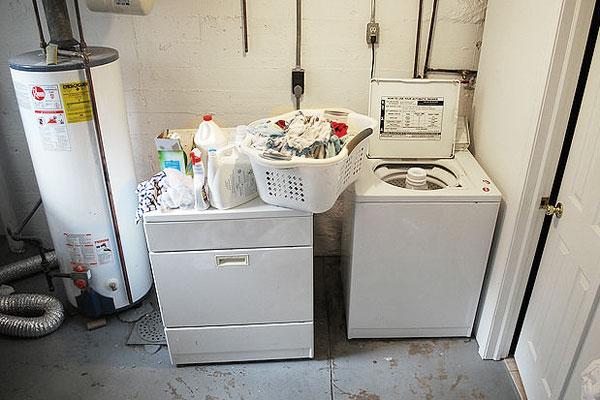 Washing machine in home's basement