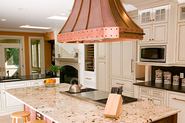 Kitchen Island Hoods ideas for retrofitting a range hood