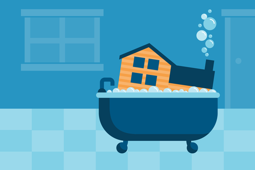 Low-Hassle Hacks for a Super-Clean Home infographic