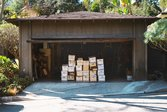 Tax records in bankers boxes in home garage