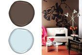 Benjamin Moore Harbor Fog 2062-70 and Van Buren Brown HC-70