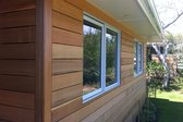 Real wood siding on a home