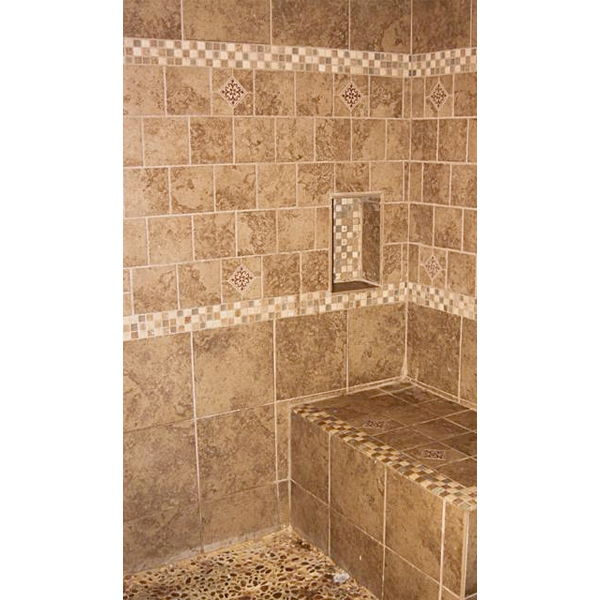 Cathy's tiled shower