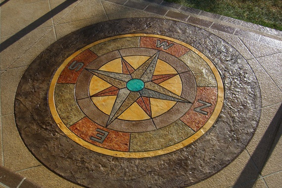 how to stamp concrete decorative concrete patio houselogic