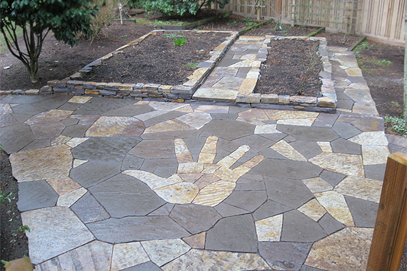 Stone Patio Design Ideas 1000 ideas about paver patio designs on pinterest pavers patio patio design and grill station Stone Mosaic Design On A Patio Stone Patio Ideas