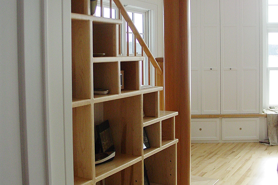 Staircase Shelving creating storage underneath your stairs | houselogic home storage