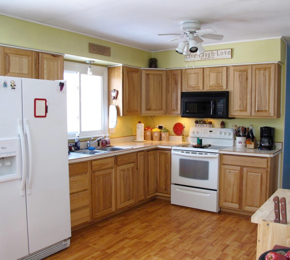 Before the Trombleys renovated their kitchen