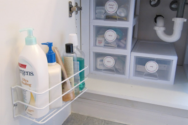 smart ideas for under sink storage in bathrooms - Bathroom Under Sink Storage Ideas
