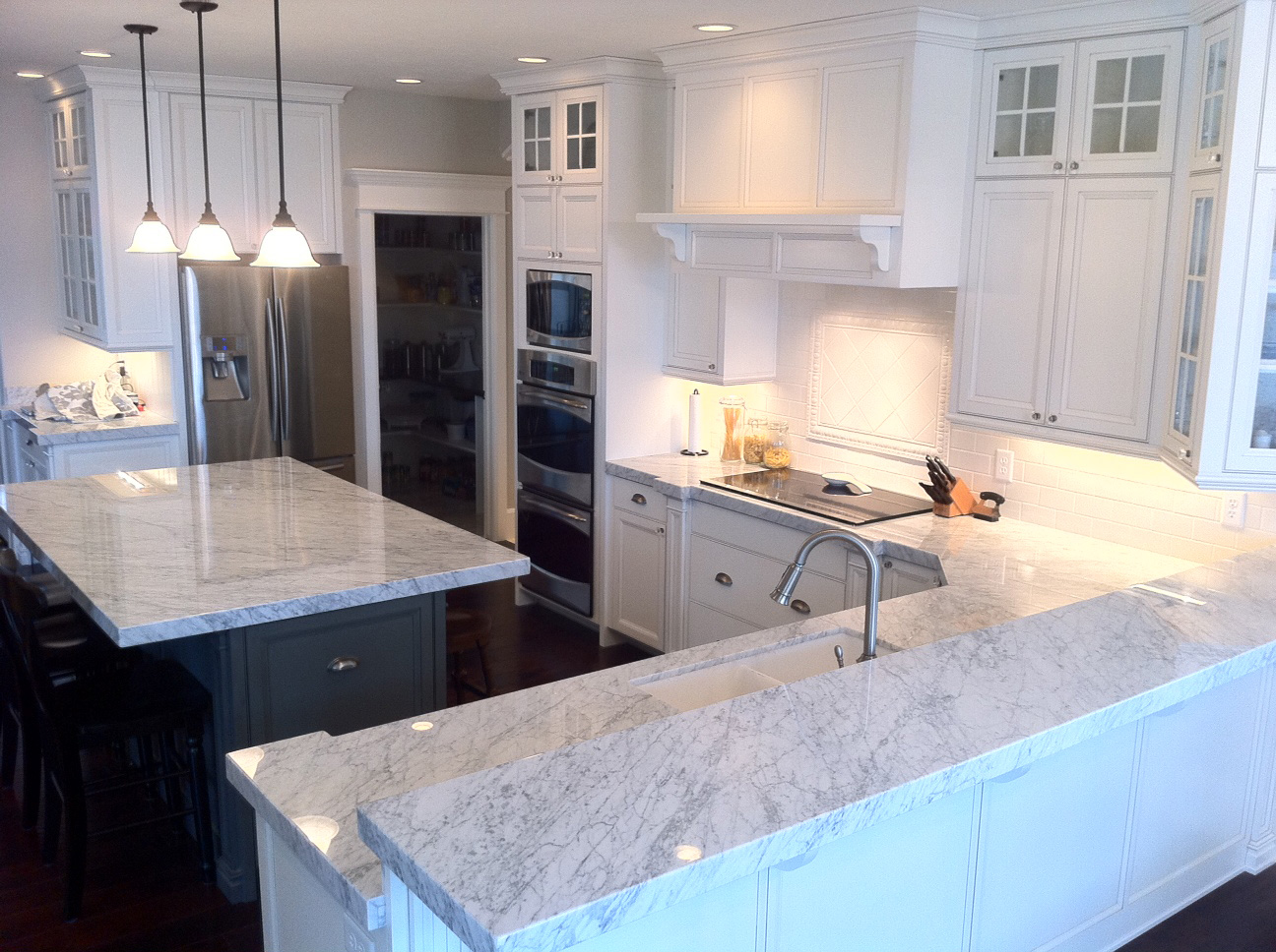 a classic in stone white kitchen countertops