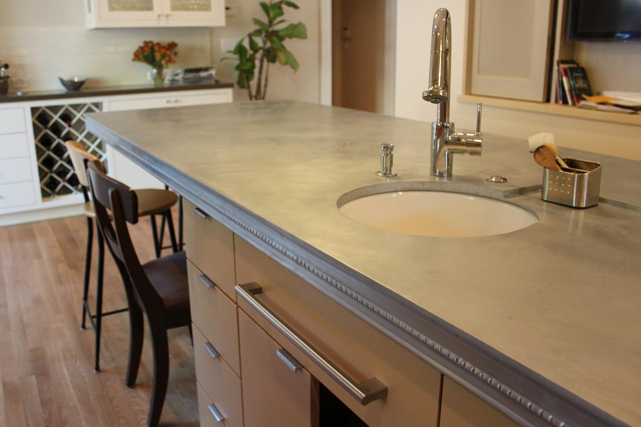 Zinc countertops pros and cons zinc countertop cost for Zinc kitchen countertop
