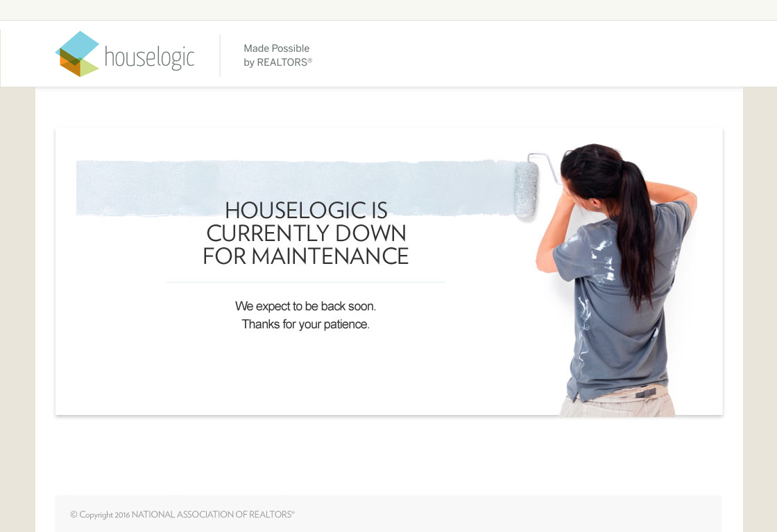 HouseLogic is down for maintenance. We expect to be back soon. Thanks for your patience.